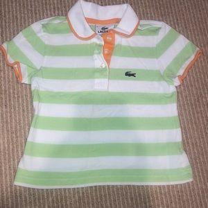 Lacoste Youth size 6 collard shirt